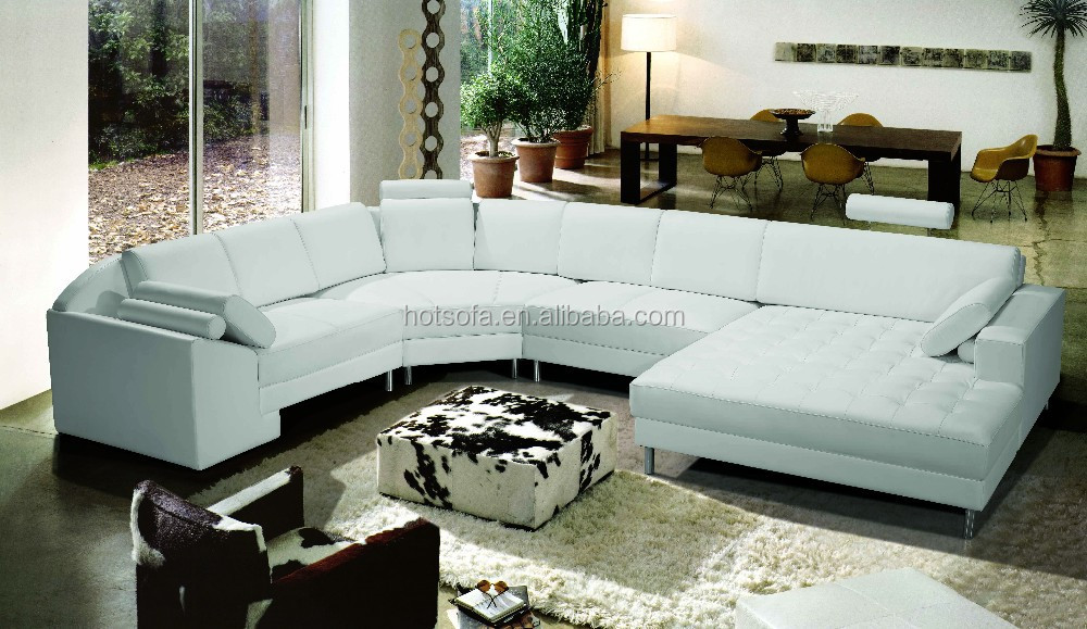 American Style Extra Large Sectional Sofa U Shape Leather Sectionals Leather Sectional Sofa For