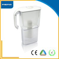 Living room plastic ABS water filter pitcher activated carbon alkaline portable water purifier