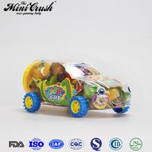 Yam flavour animal shape container toy car for fruit jelly