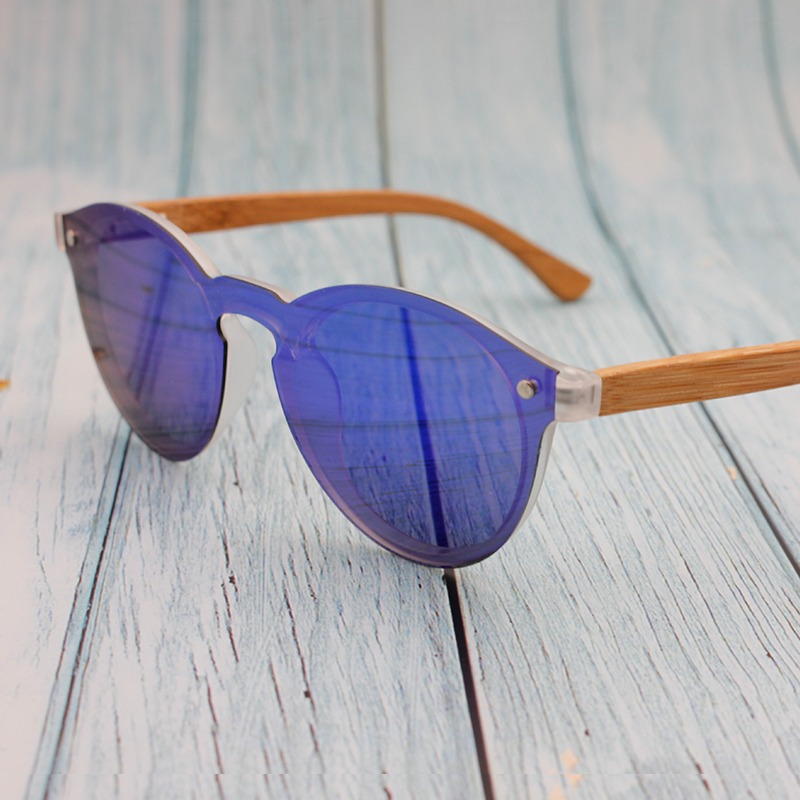 1889bd51dd Wholesale One piece lens wood bamboo sunglasses made in China