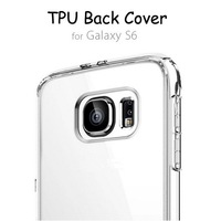 Transparent TPU 5.1 inch for samsung S6 phone case, 6 color slim cell phone case for samsung galaxy S6, for galaxy S6 case