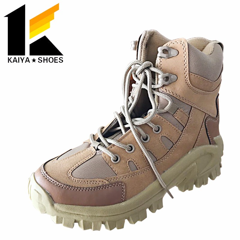 2017 abrasion resistant rubber sole steel toe protective military desert boots for tactical