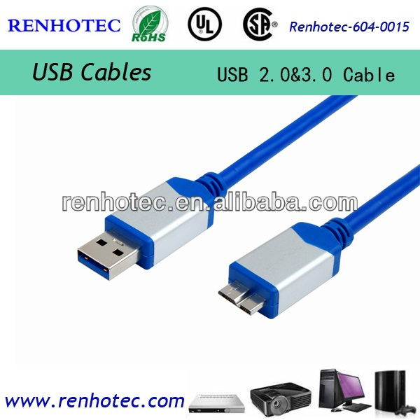 Ultra super speed AM to B Micro for Mobile HDD USB3.0 Cable