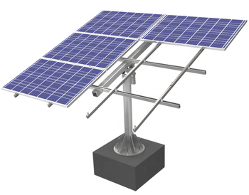 Galvanized  Steel  Adjustable Single-column Solar Panel Frame For Small Solar Power Plant