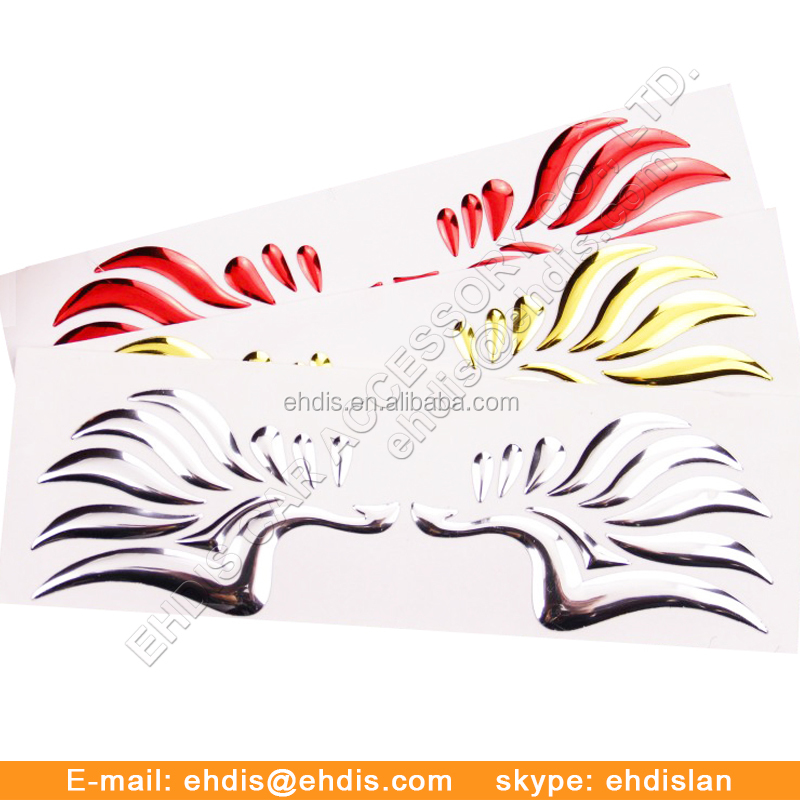 China Made Wing Shape 3D Car Emblem Chromed or Gold Car Badge