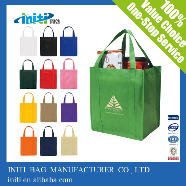 INITI 2016 Factory Handled Printed Nonwoven Shopping Bag For Shopping