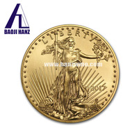 22K-24K High Quality Tungsten Gold Plated American Eagle Coin