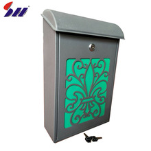 Apartment building modern stainless steel letterbox/postbox