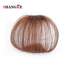 Shang Ke Clip In Human Hair Extensions Human Remy Hair Bangs Two Styles Natural Color 1Pc Free