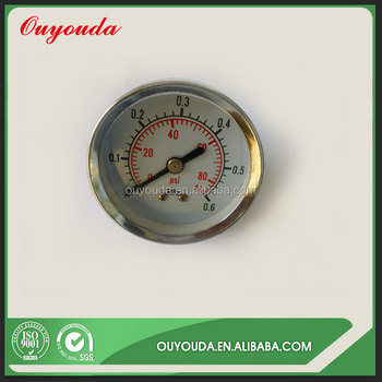 TAIZHOU OUYOUDA WENLING factory Axial Small Pressure Gauge Y50A for Water Pump