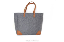 New arrival OEM design polyester women felt bags handbag, felt fashion bag