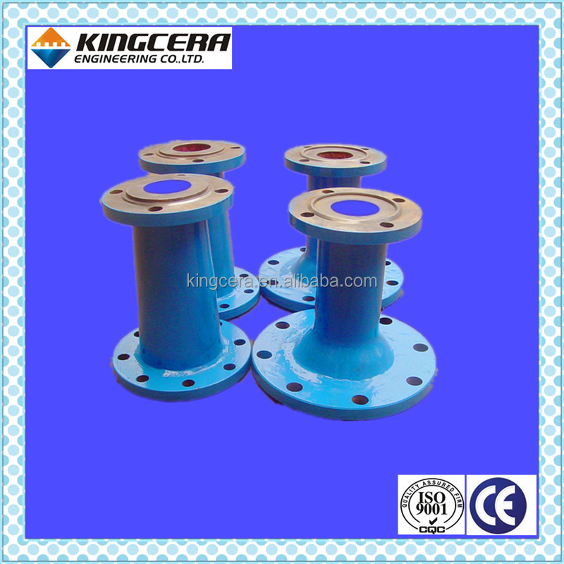 Cement abrasion&wear resistant alumina ceramic tile lined pipe spool