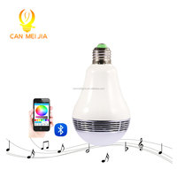 Free Shipping RGBW Wireless bluetooth speaker 12 watt led mucis bulb Audio Speaker Music Playing Lighting With APP