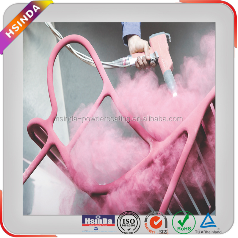 Recycle powder paint customized pink car rims powder coating