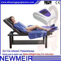 3 in 1 pressoterapia massage far infrared body slimming suit pressotherapy fat reducing infrared slimming machine