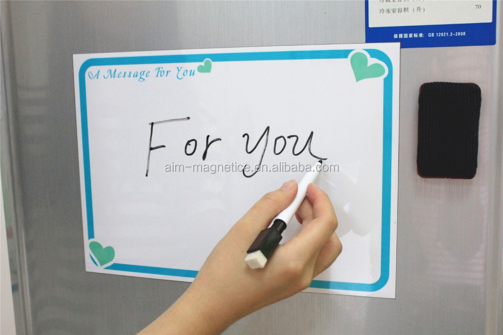 21x28cm Decorative Message board Magnetic Fridge sheet for gift