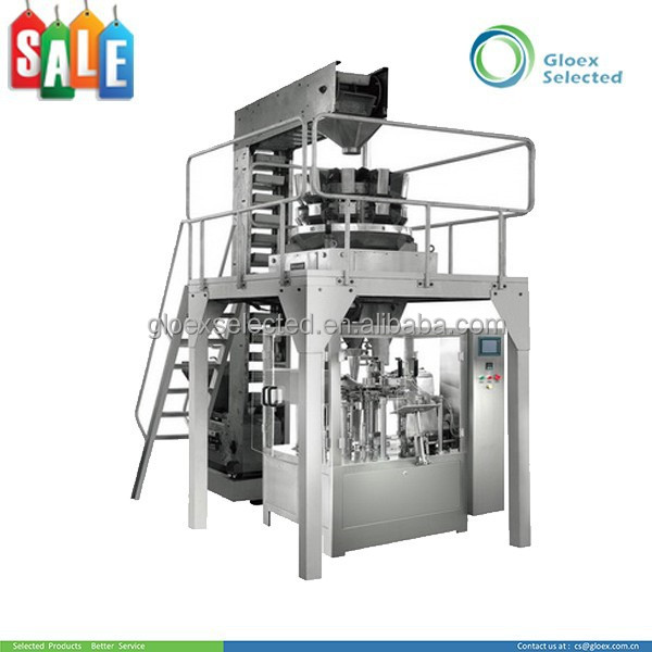 Rotary Type Automatic doypack zipper bags packaging machine