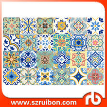 Mexican Style Kitchen/bathroom backsplash wall tile sticker,Tile decorative decal ,Vinyl Wall Decals 10x10cm/15x15cm/20x20cm
