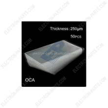50pcs OCA Optical Clear Adhesive Double-side Sticker for iPhone 6S LCD Digitizer, Thickness: 0.25mm