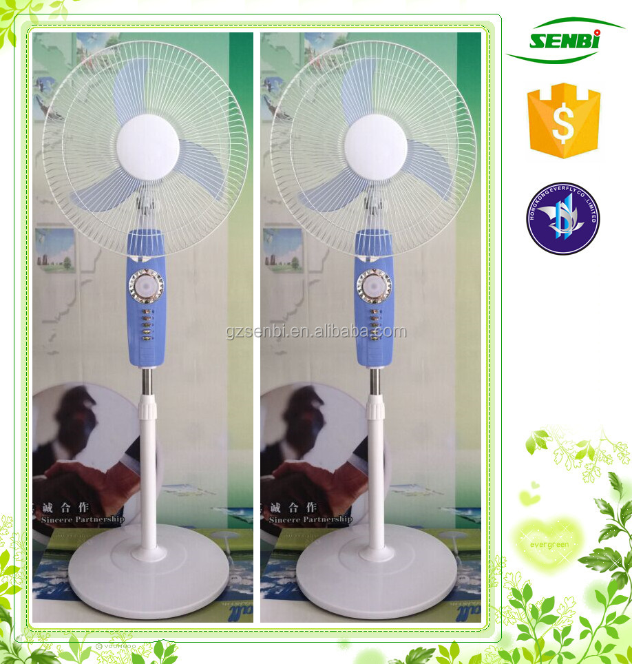 fan with led lights 16'' solar antique pedestal fan with air cooler