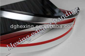 tow color pvc edge trim for particle board