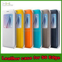 2015 Colorful Smart Flip Leather Case For Samsung Galaxy S6/S6 Edge Flip Cover