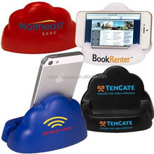 Logo printed Cloud Phone Stand Stress Relievers/Cloud Phone Stand Stress Ball/Cloud Phone Stand Stress Toy