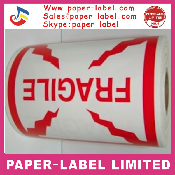 500 Labels of 4x4 Red and White FRAGILE Shipping Rolls