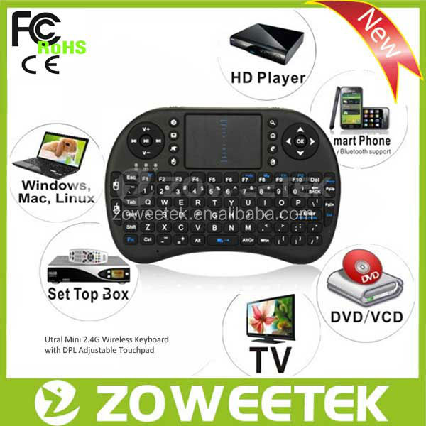 Factury Price OEM 2.4GHz Wireless Mini Keyboard with Muti-touch