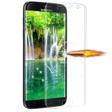 superior tpu full cover clear screen protector for samsung galaxy s7