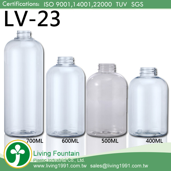 500ml Plastic Hair Oil Label Squeeze Screw Cap Cosmetic Oil Bottle