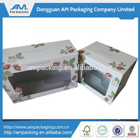 foldable customized top tuck gift box with a clear window
