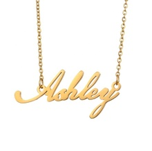 TTT Jewelry Custom DIY Design Alloy Copper Plate Gold Chain Women Personalise Name Necklaces