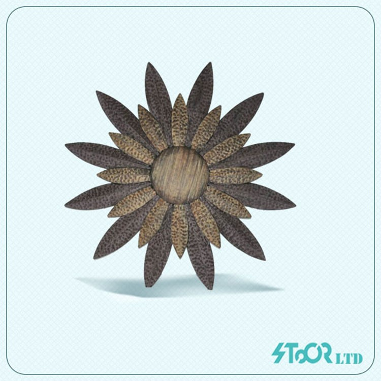 Modern library sun face metal wall decoration hanging