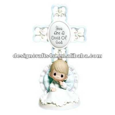 polyresin lovely baby baptism souvenirs