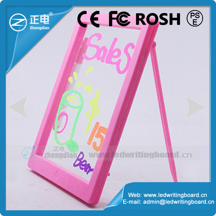New products 2015 for kids eresable slate writing illuminated led drawing light board for educational creativity