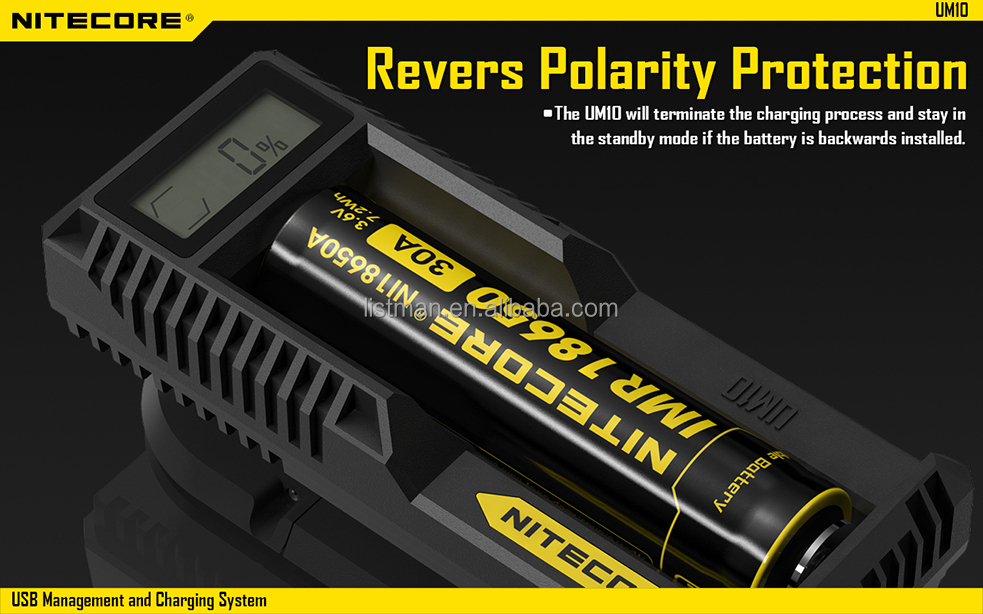 2014 new charger nitecore UM10 charger nitecore dual bay charger