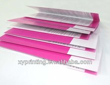 promotional tri-fold brochures printing sample manual instructions booklet printing