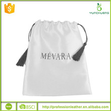 Promotional Drawstring Satin Shoe Bag, Shoes Packing Poly Bag