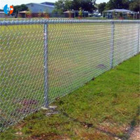 3mm -4mm Hot DIP Galvanized Chain Link Fence PVC Coated with Diamond Hole 6FT Height