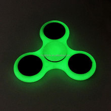 Fancy design hand finger fidget spinner with glow in the dark spinner toys