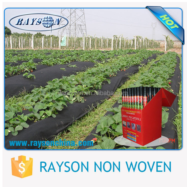 black low glowing ground cover anti root mulch film with cheap price