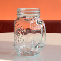 Libbey Country Fair Empty beverage glass mason jar with handle bulk