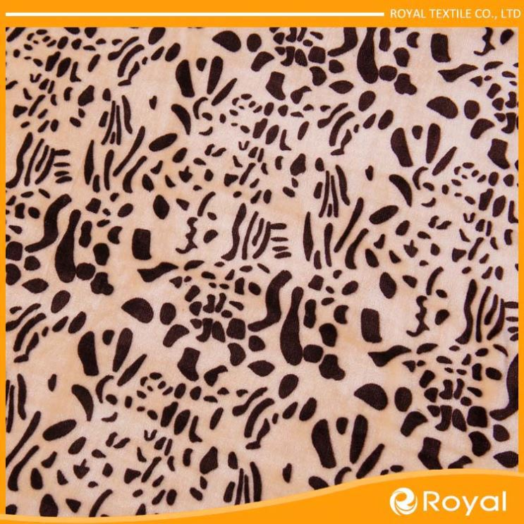 Printing Polyester Coarse Knitting Cationic Sweater Fleece Fabric For Coat