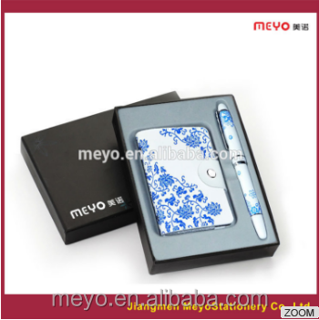 Customized Logo and Private ordering in New Design in working card holder and pen gift set ideas