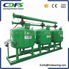 Auto backwash multi tanks sand filter for drip irrigation system
