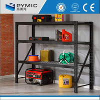 Industrial wire mesh decking garage storage rack