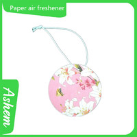 The best selling hanging car paper freshener free shipping with logo printing-IC03