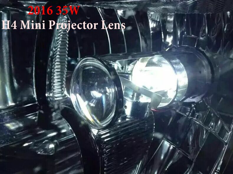 2016 35W 12V Plug And Play H4 MINI HID Xenon Headlight HID Bi Xenon Bulb H4 H/L MINI Projector Lens
