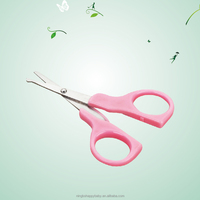 Baby or kids security scissors handle plastic cover ,fashion design plastic cover scissors for baby